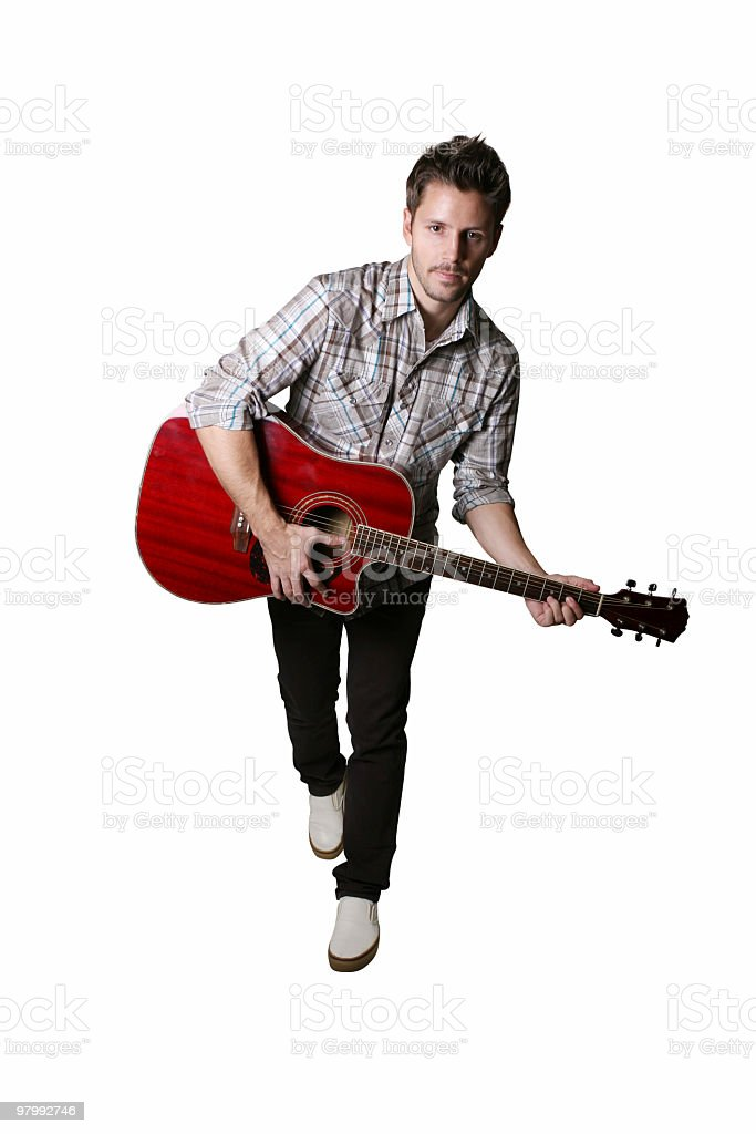 Playing my guitar royalty-free stock photo