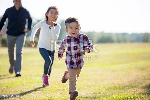 589135214 istock photo Playing Outside on Father's Day 589135214