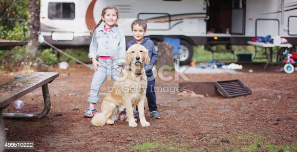 istock Playing Outside While Camping 499510222