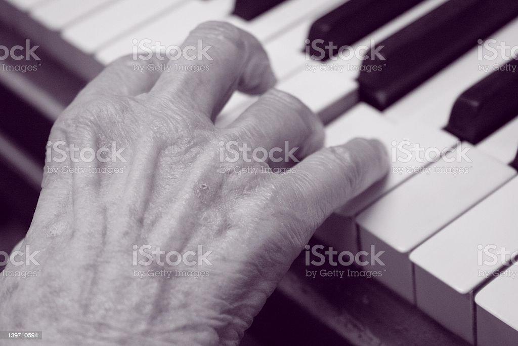 Playing Piano royalty-free stock photo