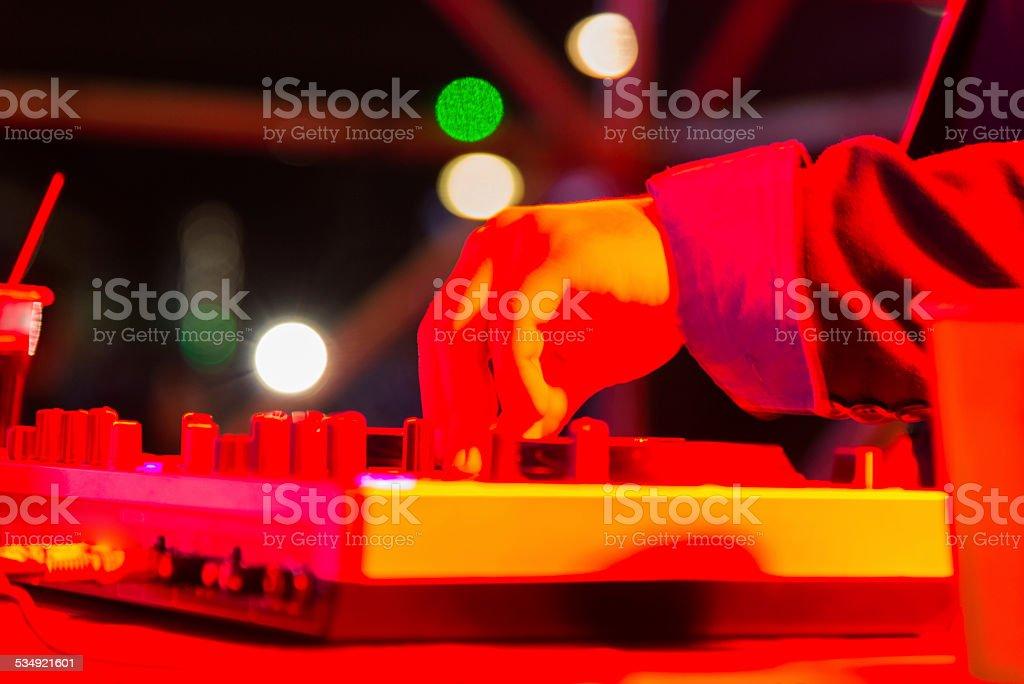 DJ playing stock photo
