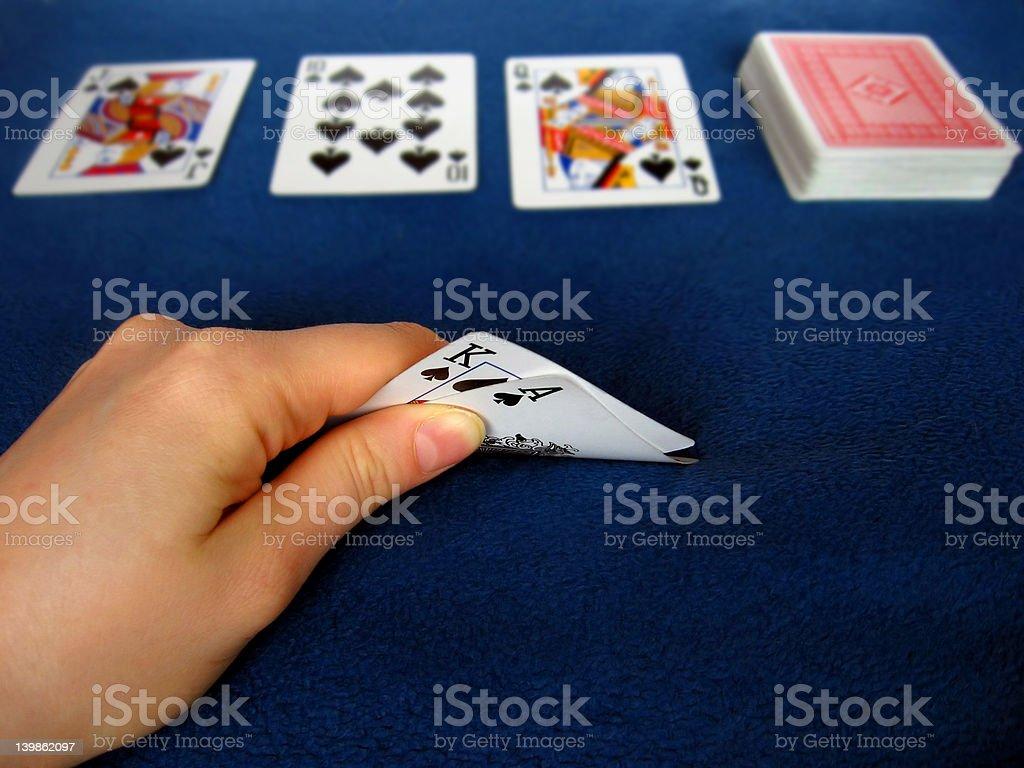 Playing Poker royalty-free stock photo