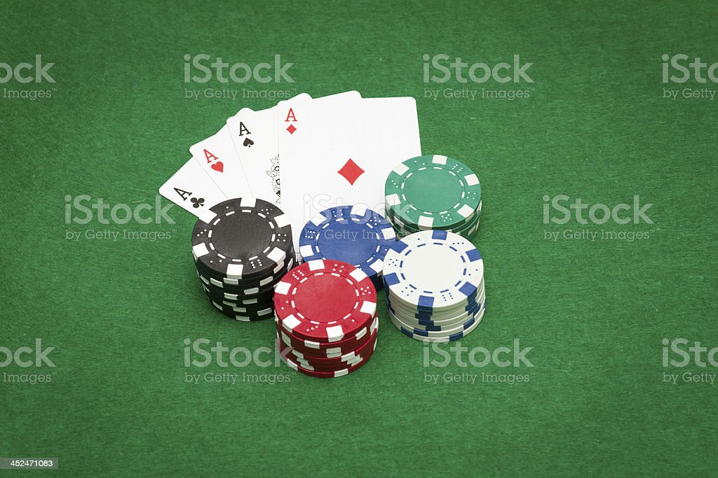 Playing Poker royalty-free stock photo