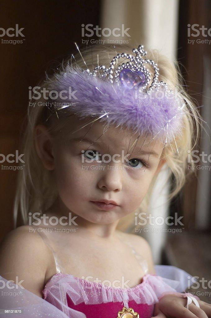 Playing princess royalty-free stock photo