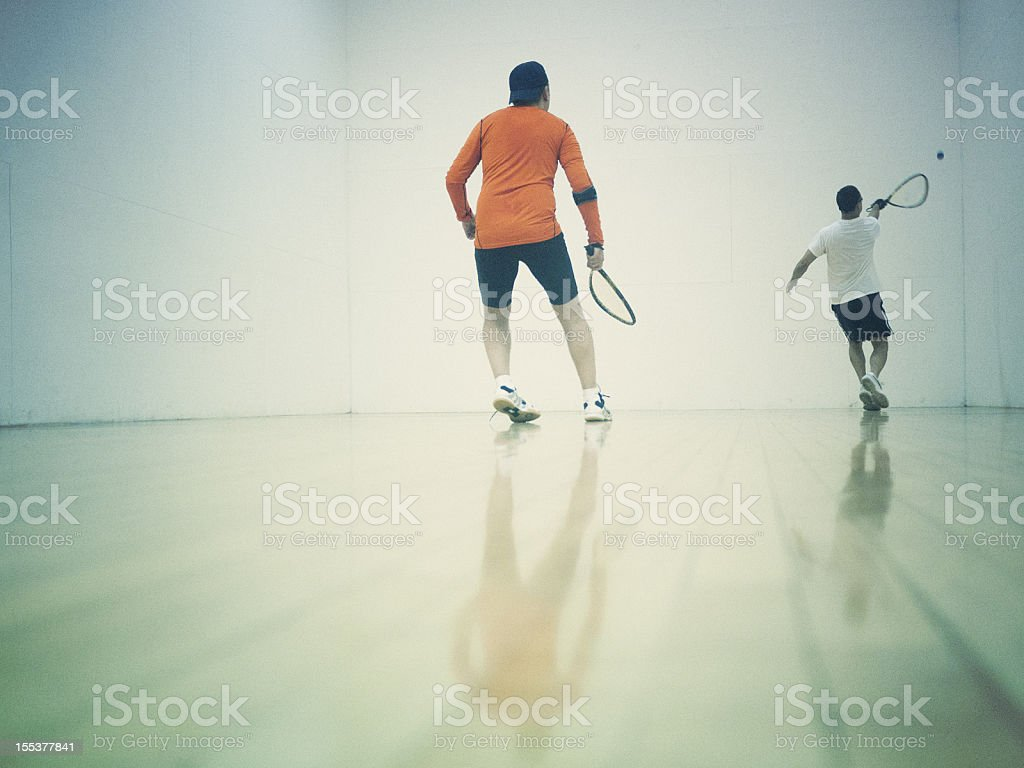 playing Racketball royalty-free stock photo