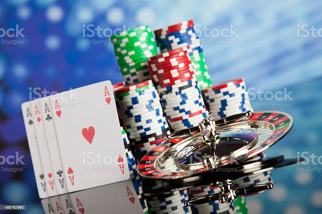 Playing roulette in the casino stock photo