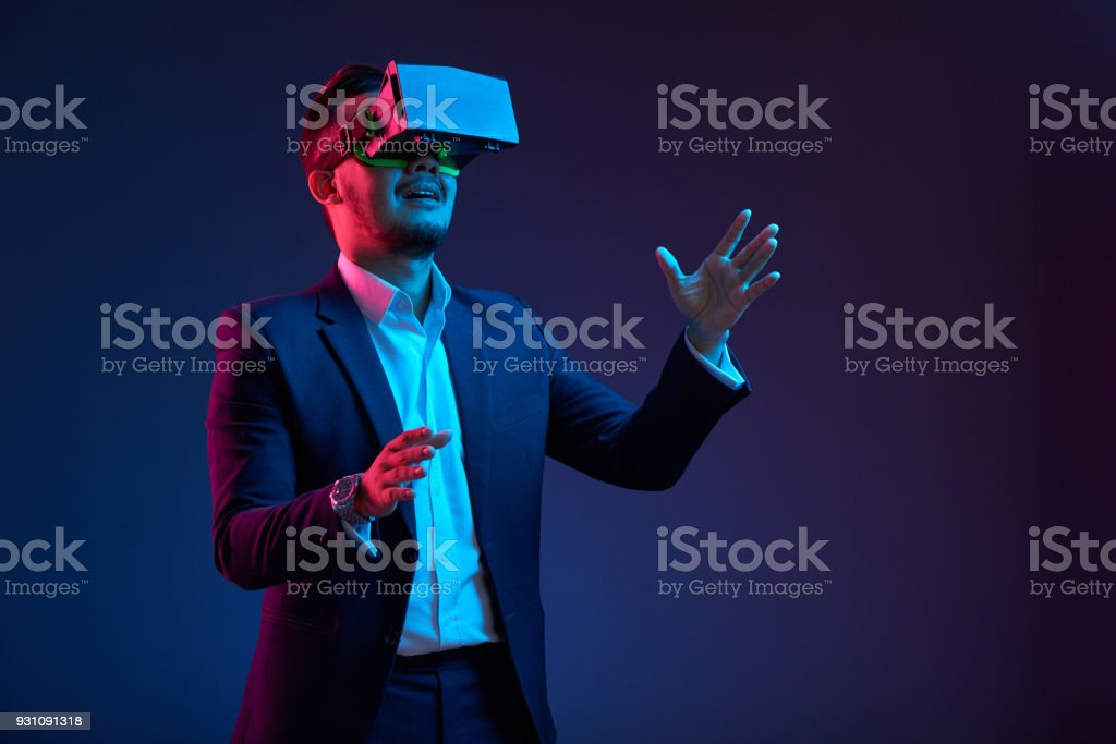 Playing scary game stock photo