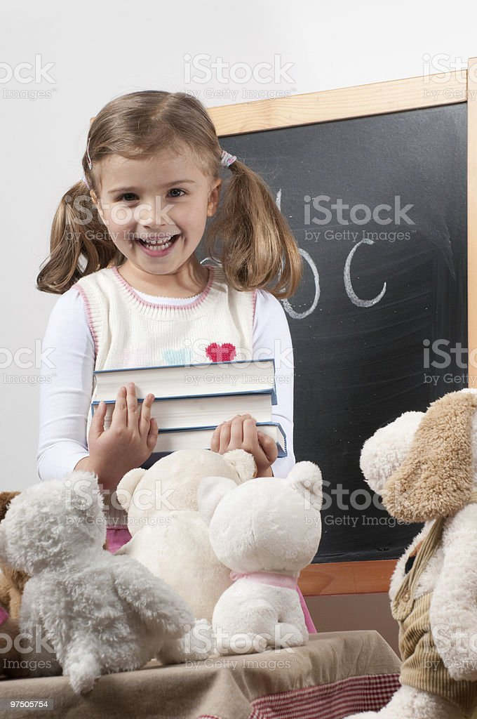 Playing school royalty-free stock photo