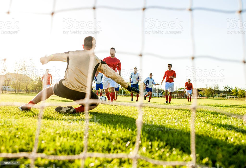 Playing soccer. stock photo