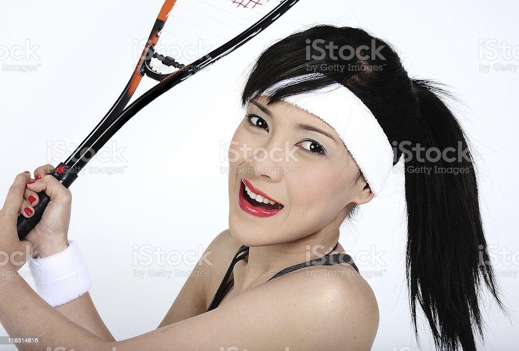 playing squash royalty-free stock photo