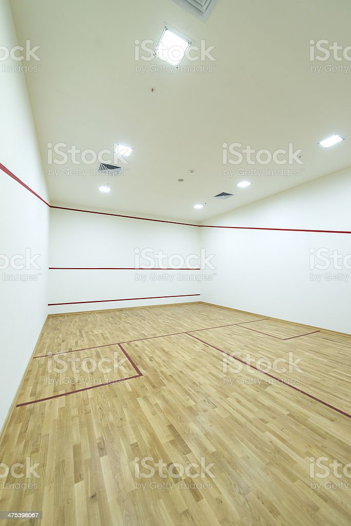 Playing Squash royalty-free stock photo