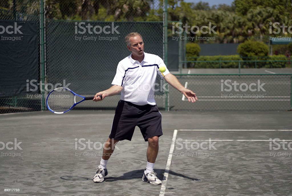 Playing Tennis II royalty-free stock photo