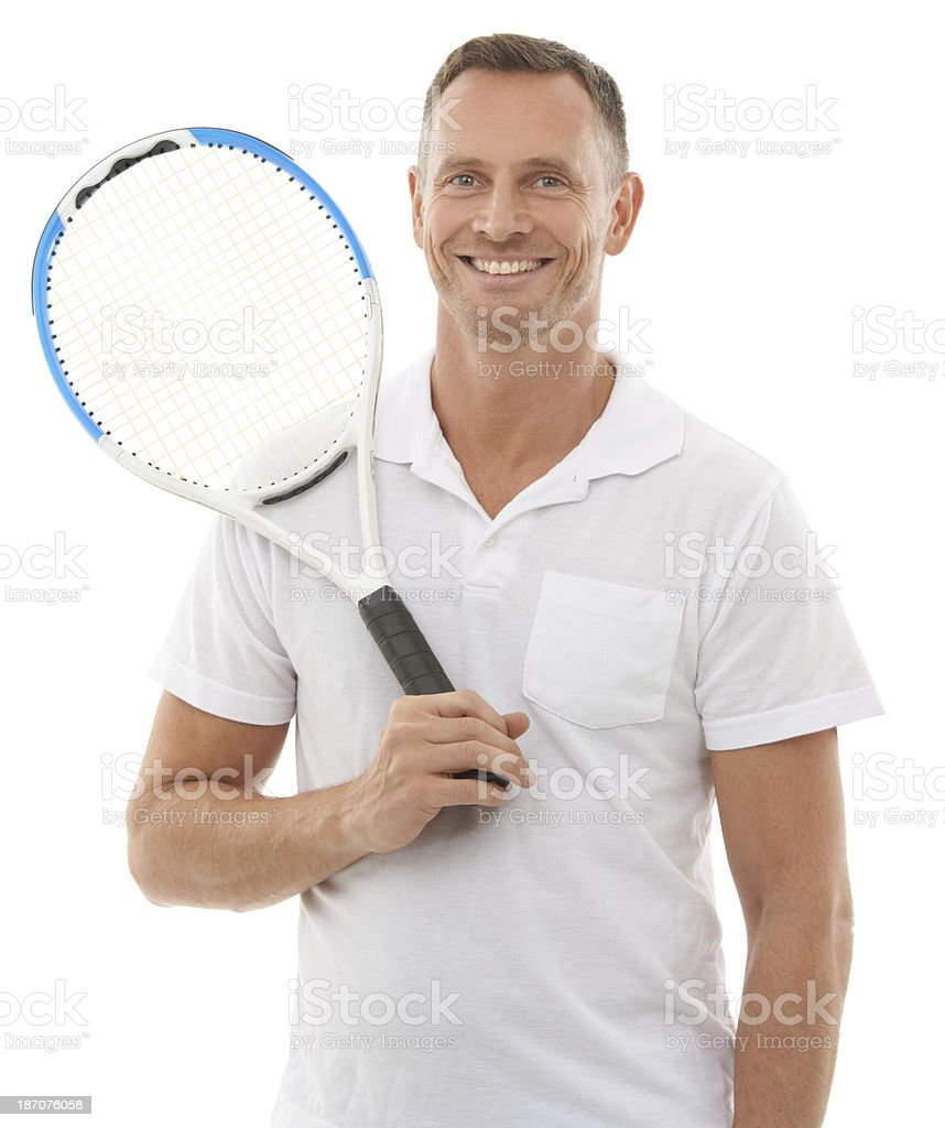 Playing tennis is my passion stock photo