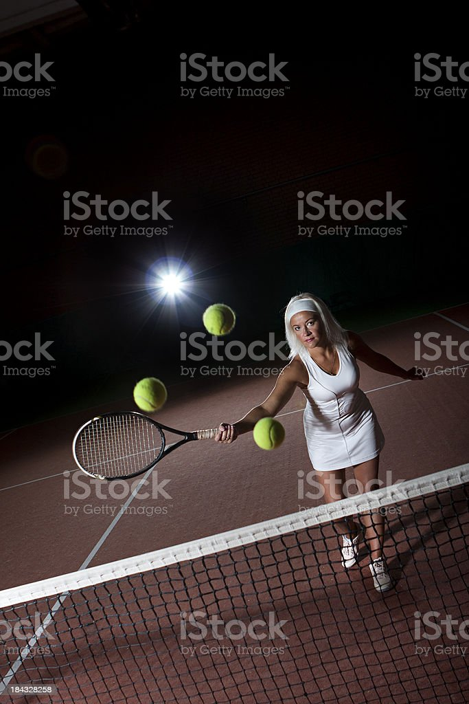 playing tennis royalty-free stock photo