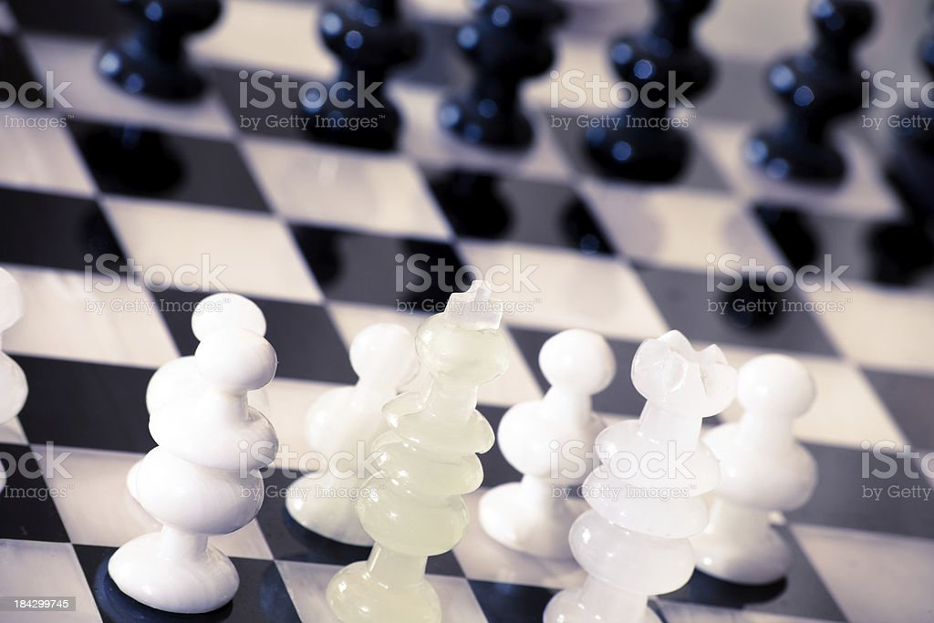 Playing the Game of Chess royalty-free stock photo