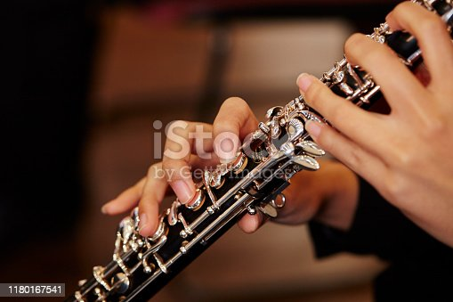 Playing the oboe