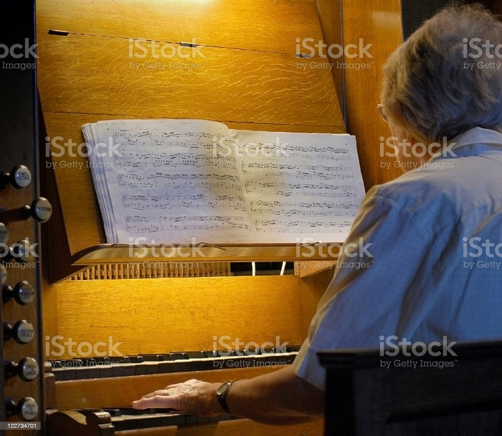 Playing the Organ #2 royalty-free stock photo