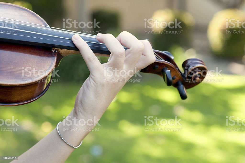Playing the Violin royalty-free stock photo