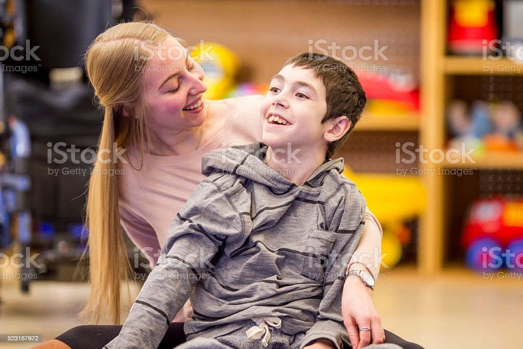Playing Together in Class stock photo