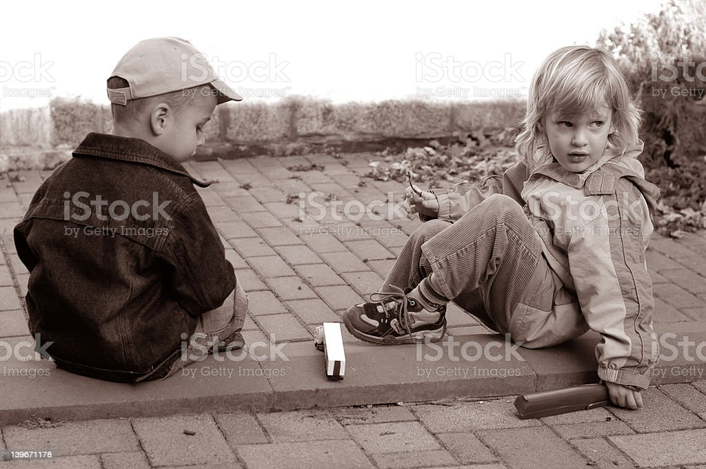 playing together royalty-free stock photo