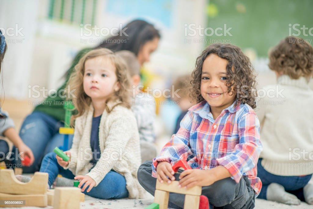 Spielen Together - Lizenzfrei 4-5 Jahre Stock-Foto