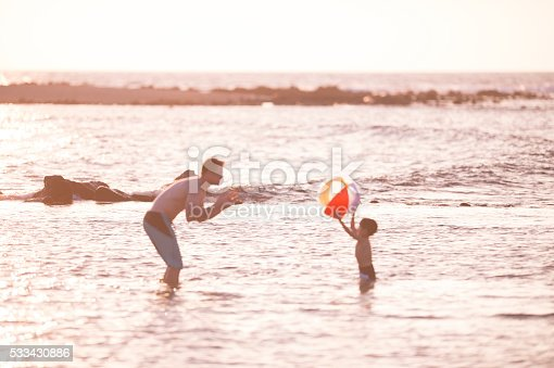 605742160 istock photo Playing Toss with a Beach Ball 533430886