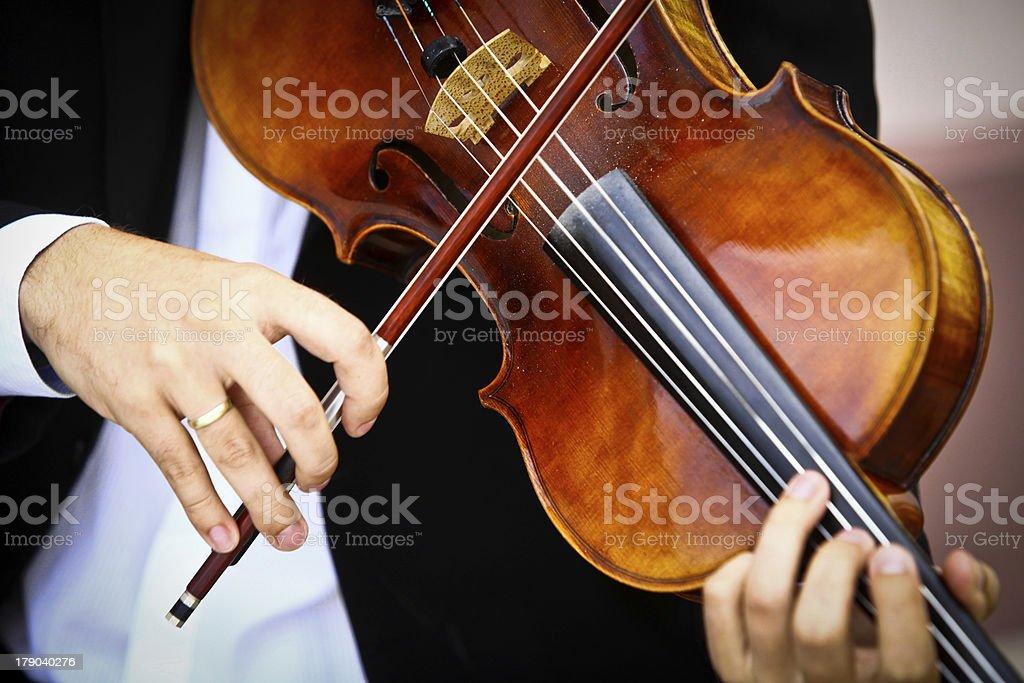 Playing viola royalty-free stock photo