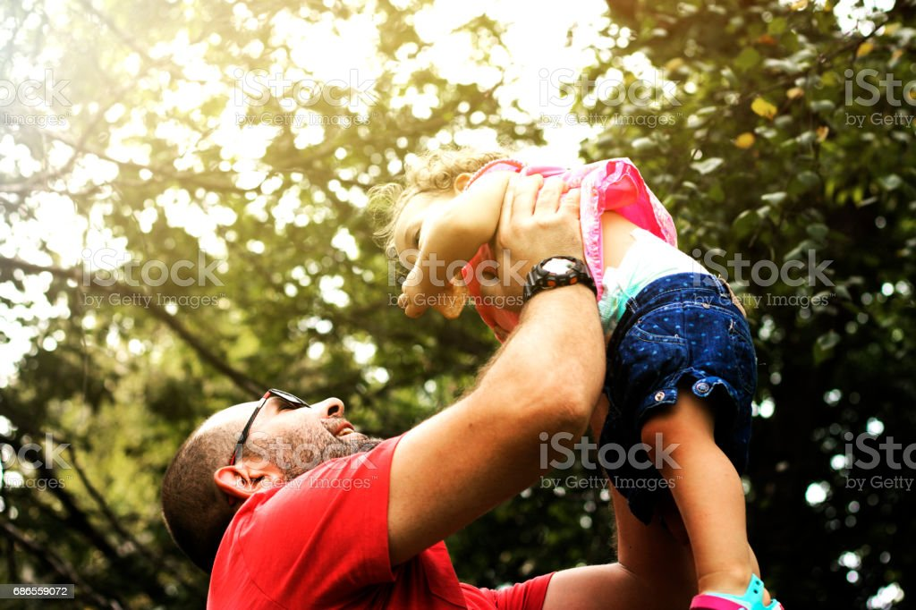 Playing whit Dad royalty-free stock photo