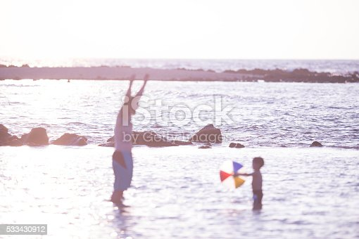 605742160 istock photo Playing with a Beach Ball 533430912