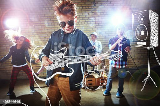 istock Playing with a rockstar attitude 498744516