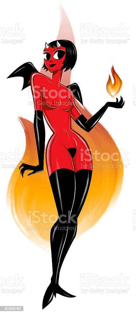 Playing with fire royalty-free stock photo