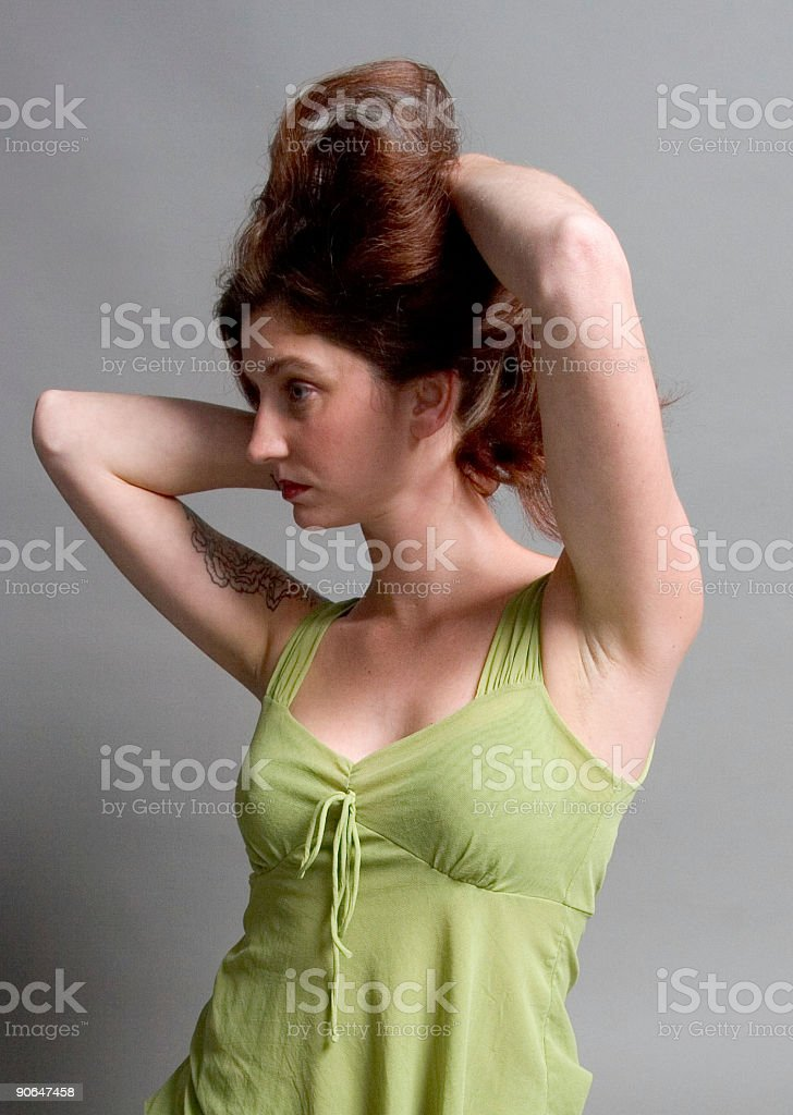 Playing With Hair royalty-free stock photo