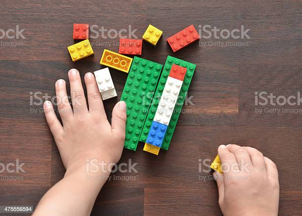 Playing With Lego Stock Photo - Download Image Now