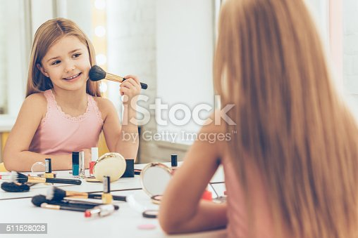 istock Playing with make-up. 511528028