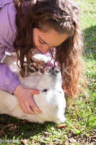 istock Playing with my dog in the meadow 1149428662
