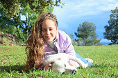 istock Playing with my dog in the meadow 1149428670