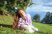 istock Playing with my dog in the meadow 1149428672