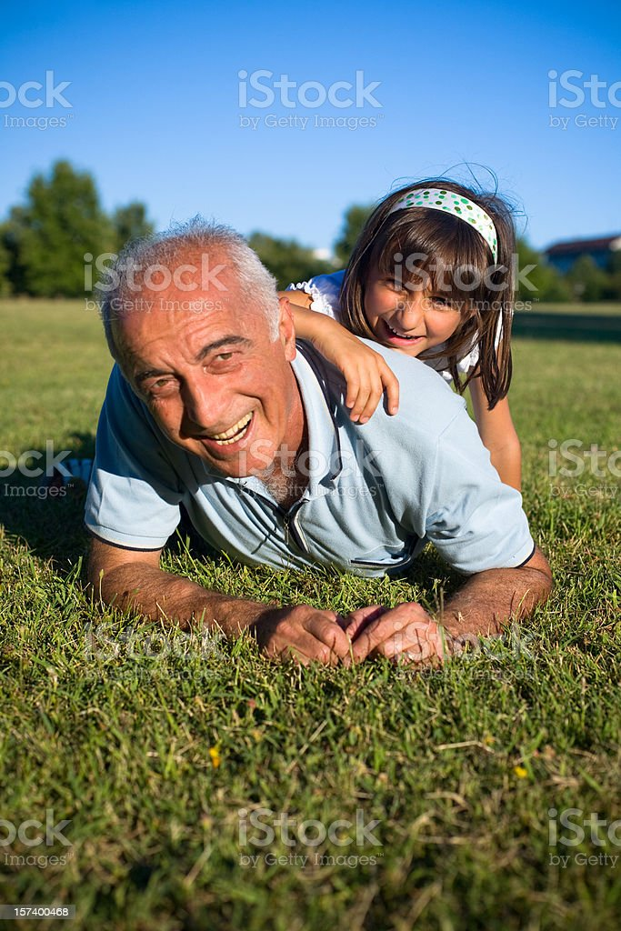 Playing with niece royalty-free stock photo