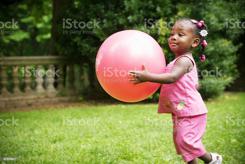 playing with the ball royalty-free stock photo