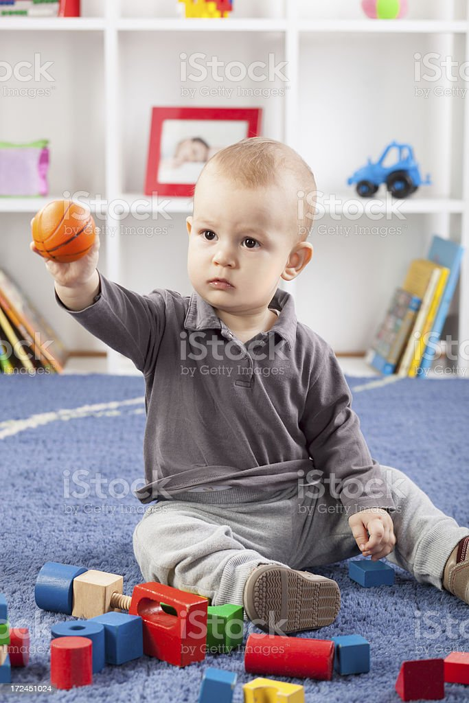Playing With Toys royalty-free stock photo