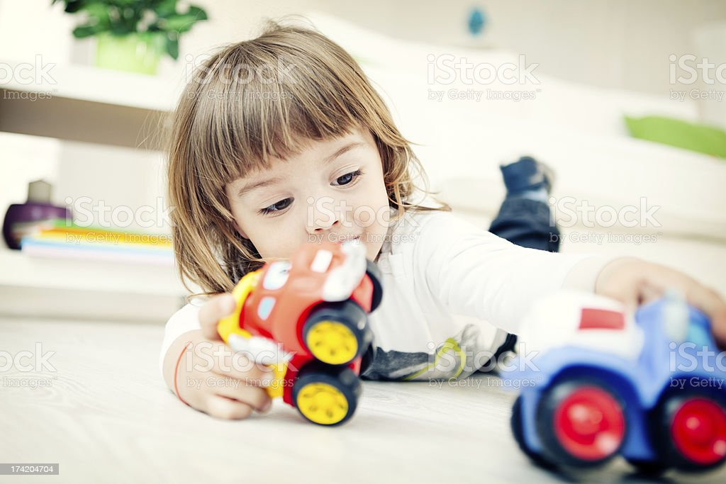 Playing With Toys stock photo