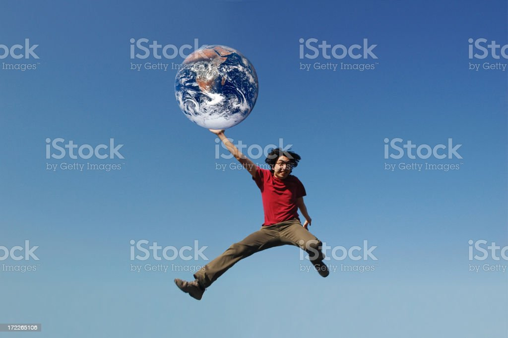 playing with world royalty-free stock photo