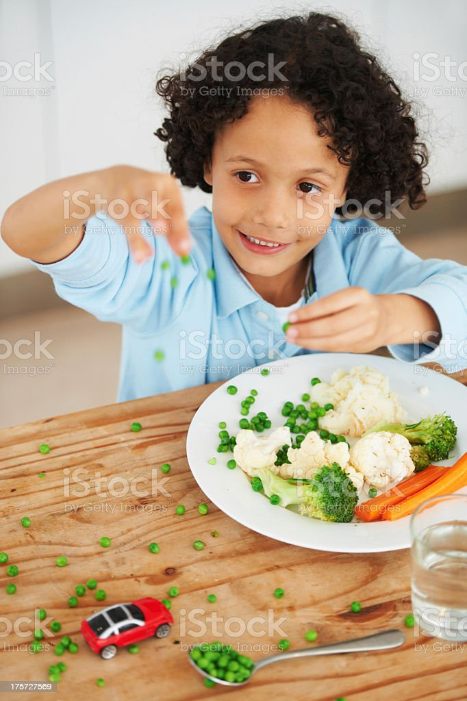 Playing with your food royalty-free stock photo