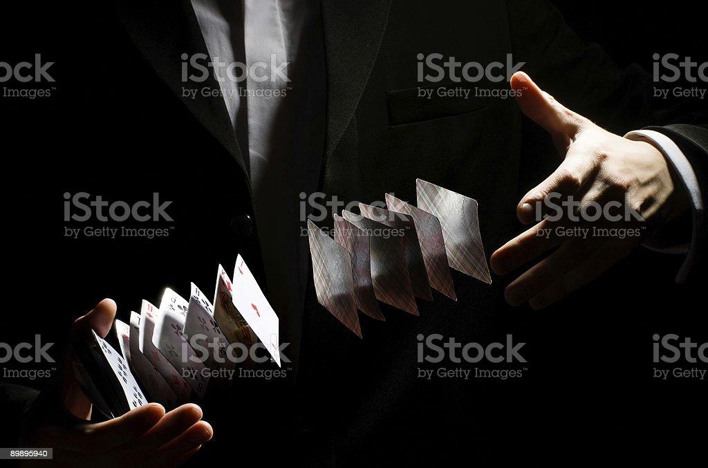 Jugando-Tarjeta truco foto de stock libre de derechos