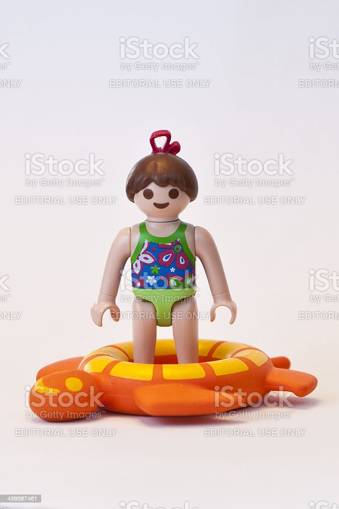 playmobil girl in bathing suit royalty free stock photo - Play Mobile Fille