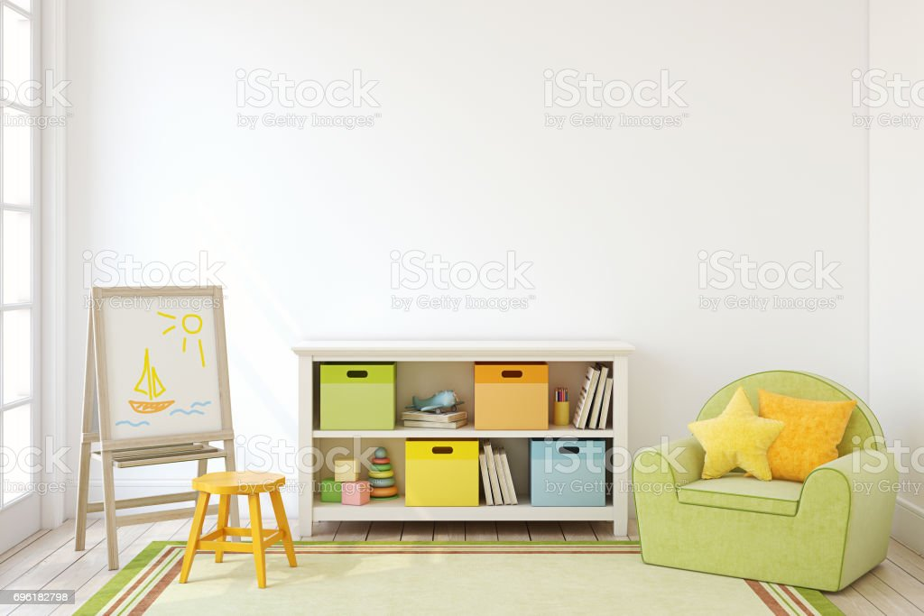 Playroom interior. stock photo