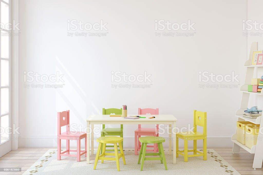 Playroom interior. stock photo