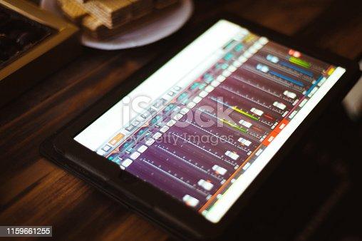 istock DJ plays and mix music on digital midi controller 1159661255