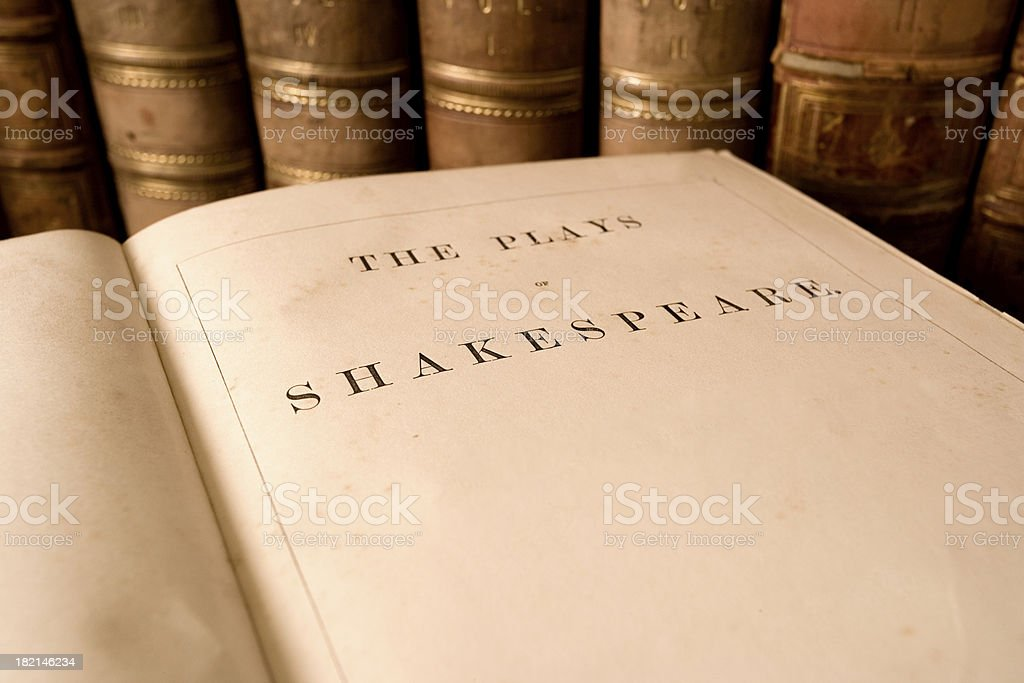 Plays of Shakespeare royalty-free stock photo
