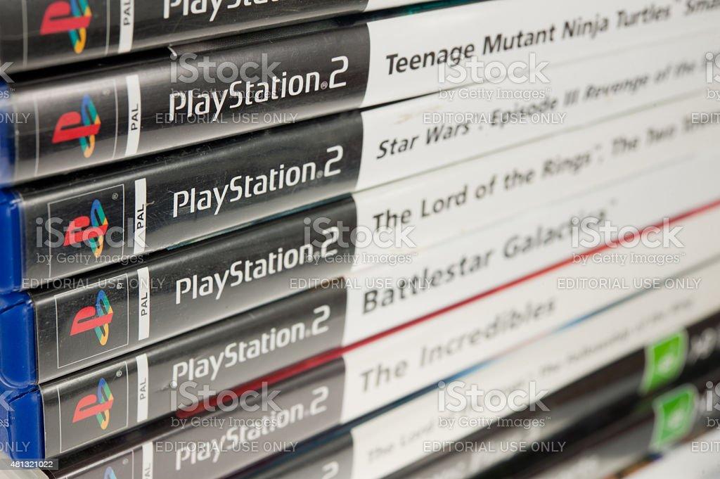 Playstation 2 giochi foto stock royalty-free